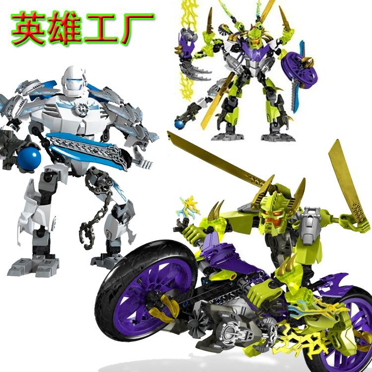 得高工厂英雄拼装机器人正品恶魔4.0儿童疾速魔10188