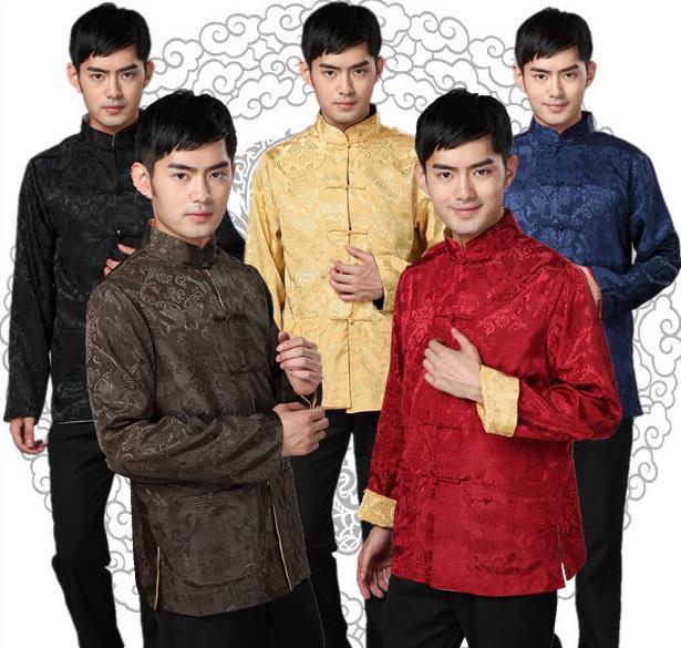 Весна мужской китайский стиль традиция длинный рукав костюм мужской куртка пальто тайский провода износ поверхности ежедневно китайский одежда костюм мужчина