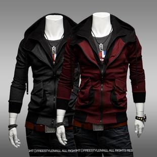 Осень корейский больше карман тонкий цвет hit мужской закрытый кардиган свитер молодежь случайный движение толстовки пальто волна