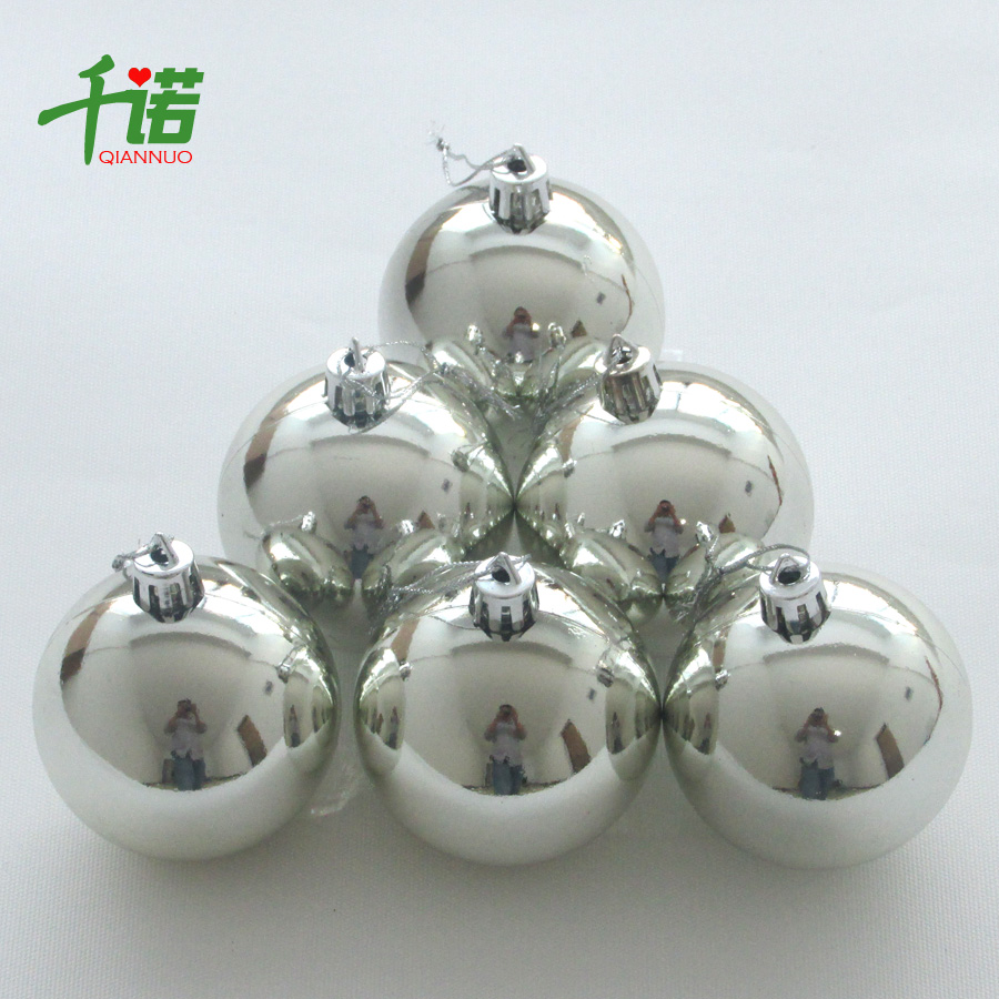 chino christmas decorations bar ballroom christmas tree decoration 10cm silver light christmas ball 6 pack - Silver Plated Christmas Tree Decorations
