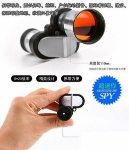 Ống đơn Mini túi mini cọ kho báu Nhôm kính thiên văn góc nhỏ cao 8x20 - Kính viễn vọng / Kính / Kính ngoài trời