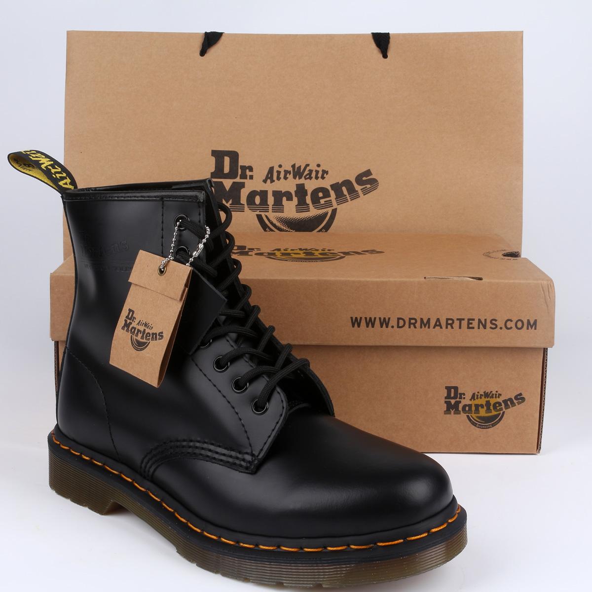 ebe02bc7 Полуботинки Гонконг счетчики аутентичные Dr.Martens 1460 8 отверстие Мартин  высокие сапоги Мужские ботинки Ботинки