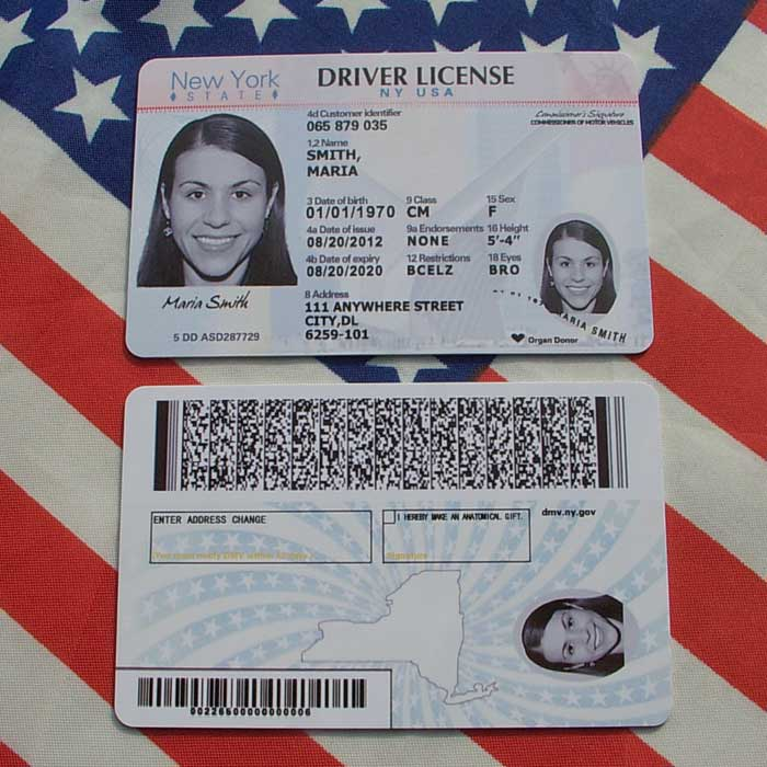 Electronic Real Id Application: [USD 22.05] USA New York Driver's License ID Card Car Prop