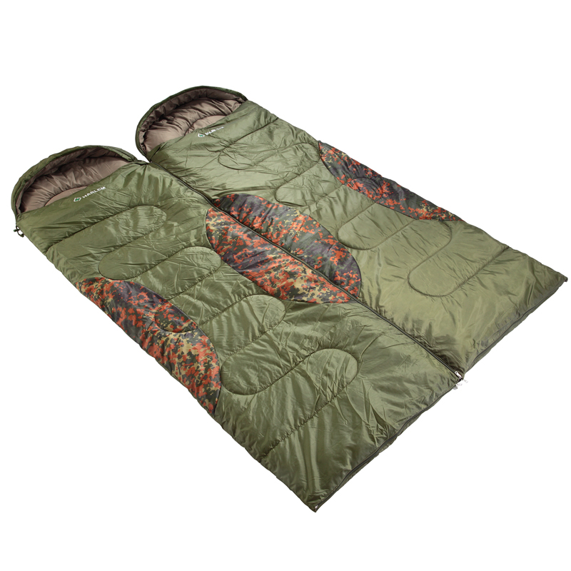 Spring and autumn Camo outdoor sleeping bag warm sleeping bag super light lunch adult sleeping bags can be spelled double sleeping bag