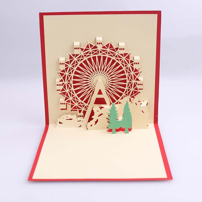 USD 5.95] 3d three-dimensional business birthday Ferris Wheel ...