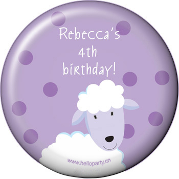 Birthday souvenir gift fridge sticker duckling lamb and cow party pie