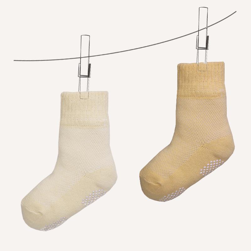 детские носки Три двойной встроенные органический хлопок детские хлопок носки детские противоскользящие малыша носки весной и летом носки
