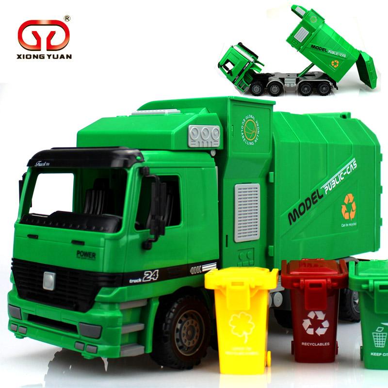 儿童大号环卫车垃圾车玩具车男孩 仿真惯性工程车清洁车模型3-6岁