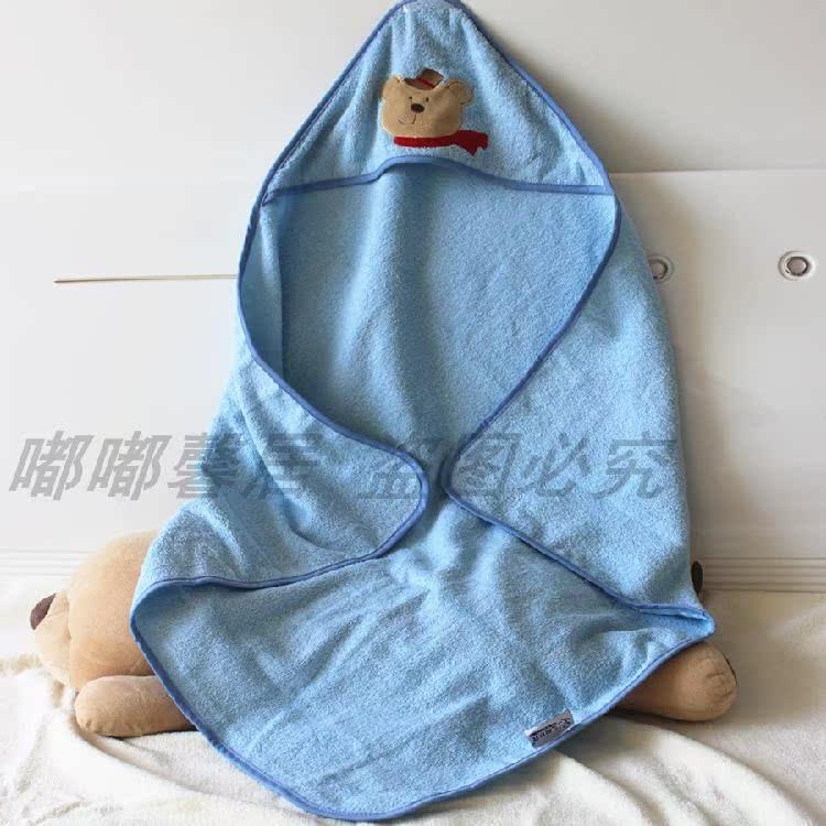 宝宝浴巾卡通斗篷带帽纯棉儿童超吸水浴袍婴儿毛毯子抱被大毛巾