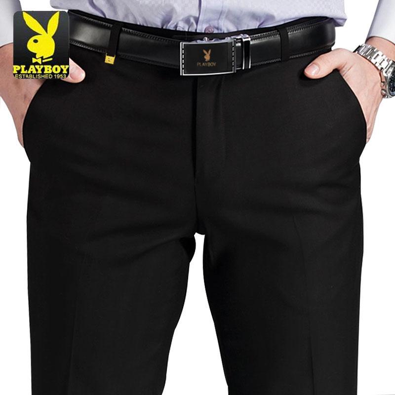 Playboy mùa hè phần mỏng không quần sắt nam tự trồng kinh doanh thanh niên trẻ Hàn Quốc quần âu nam quần