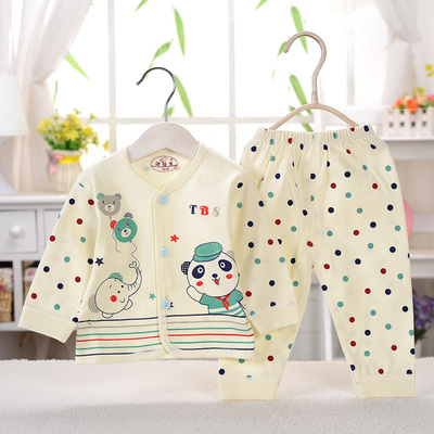 0-1-3-4-6 September 1 year old 2 years old baby underwear suit baby cotton shirt pants suit spring and autumn four