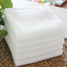Pure white thickened large square towel pure cotton adult hotel towel for men and women household face washing and facial cleaning towel for water absorption