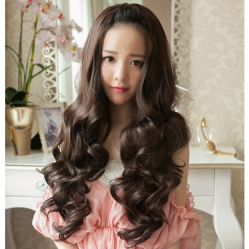 Usd 5002 Half Sleeved Wig Female Big Wave Long Curly Natural