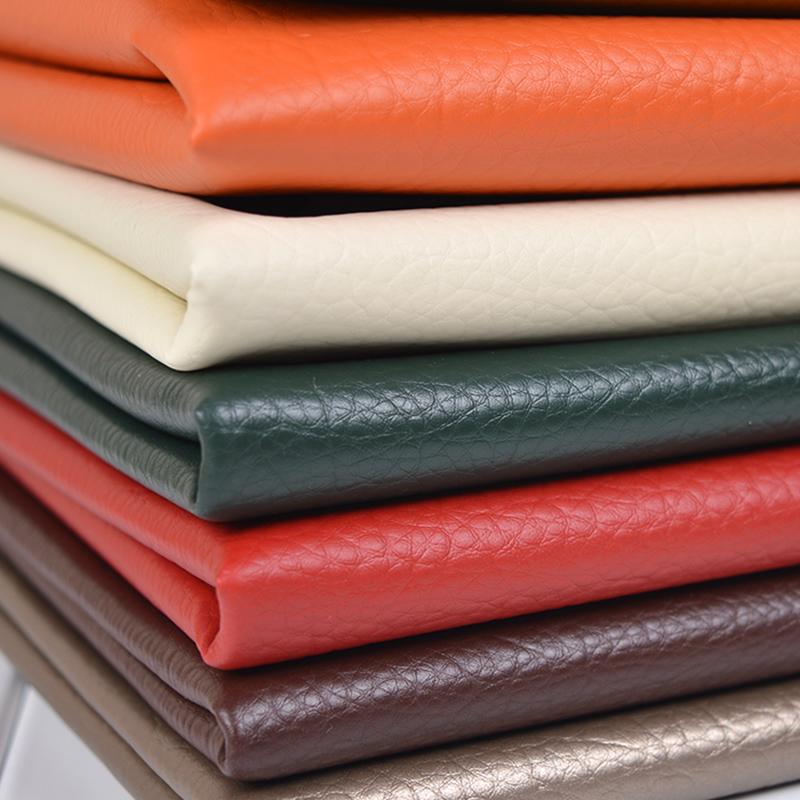 皮料仿皮人造革pu纯色大皮革纹背景布料荔枝沙发软包布硬包面料墙