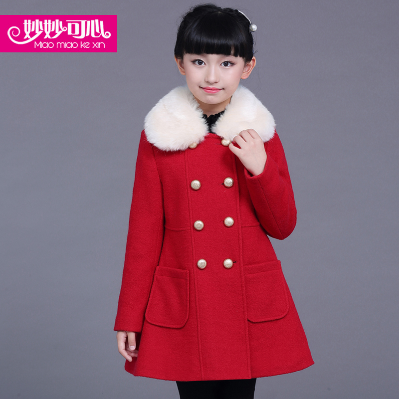 女童秋装呢子大衣2015新款韩版童装女孩秋冬款毛呢外套儿童上衣潮
