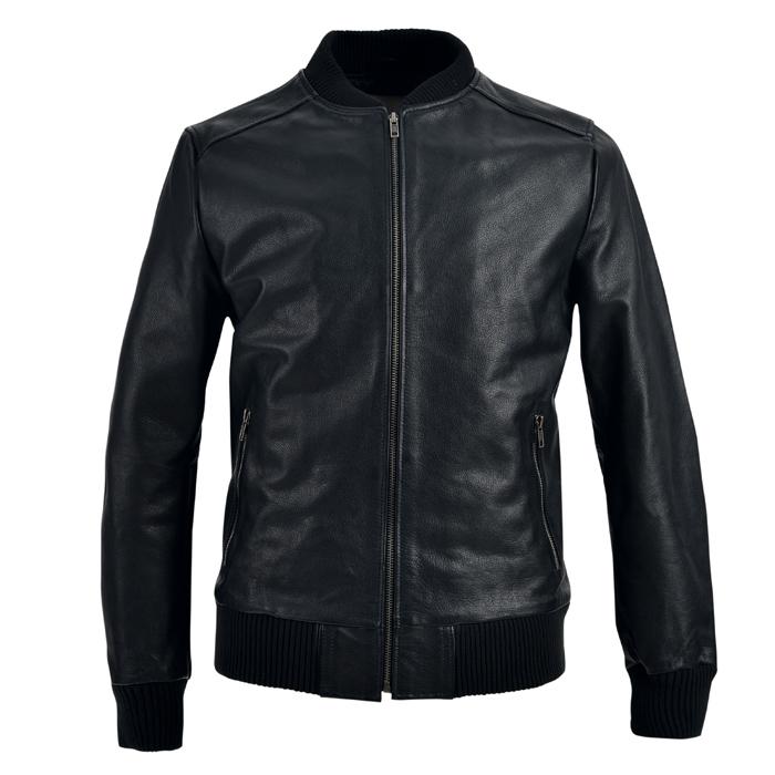 2015新款海宁真皮皮衣男士山羊皮夹克立领短款男式修身外套薄特价