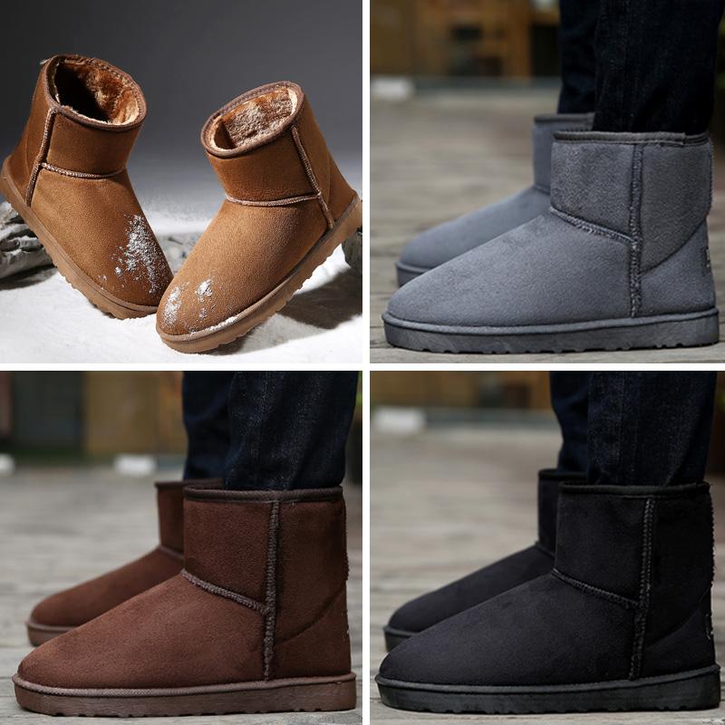 冬季男士雪地靴韩版潮流男靴子休闲加绒棉鞋保暖高帮男鞋马丁棉靴