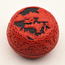 Lacquer Carving jewelry box folk features crafts Chinese style gift souvenirs