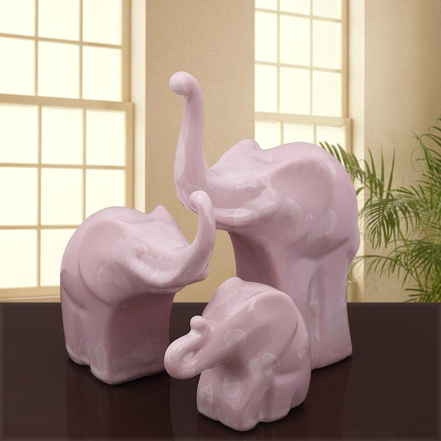 欧式创意一家三口小象结婚礼物客厅电视柜酒柜家居装饰品大象摆件