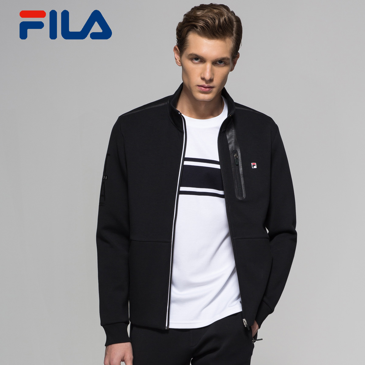USD 231.79  FILA Philo men s jacket spring new knit jacket sports ... 2372a2c05388
