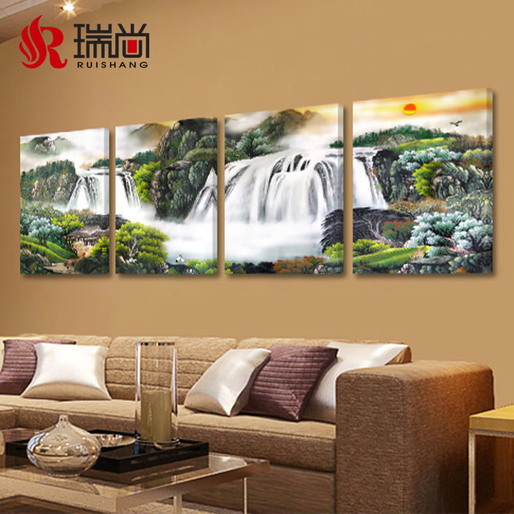 usd 16 36 living room hanging painting mountain and water waterfall