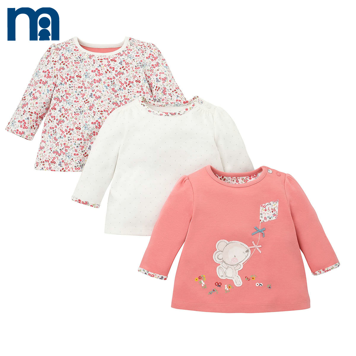 usd 81 35 mothercare baby girl long sleeve t shirt 3pcs newborn