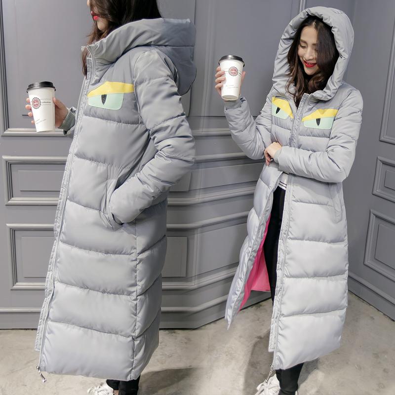 维依恋2015冬季新款韩版女装外套过膝长款棉服毛领棉衣加厚棉袄