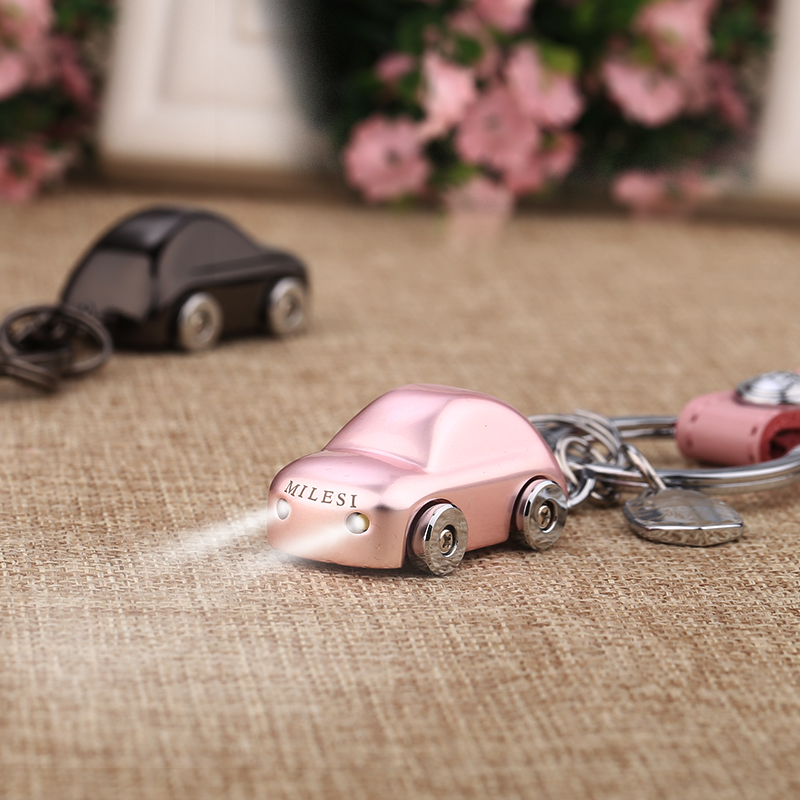 Miller's car keychain men and women creative gifts couple key chain pendant Korea cute ring custom