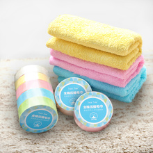 Travel disposable towel Cotton thickened washcloth Hotel portable mini compression washcloth large 5 pcs