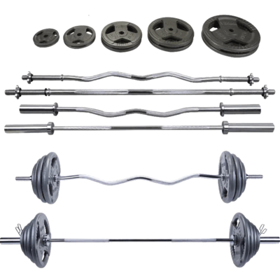 Paint barbell set squat weighting equipment home fitness small hole Dali olet rod barbell dumbbell combination set