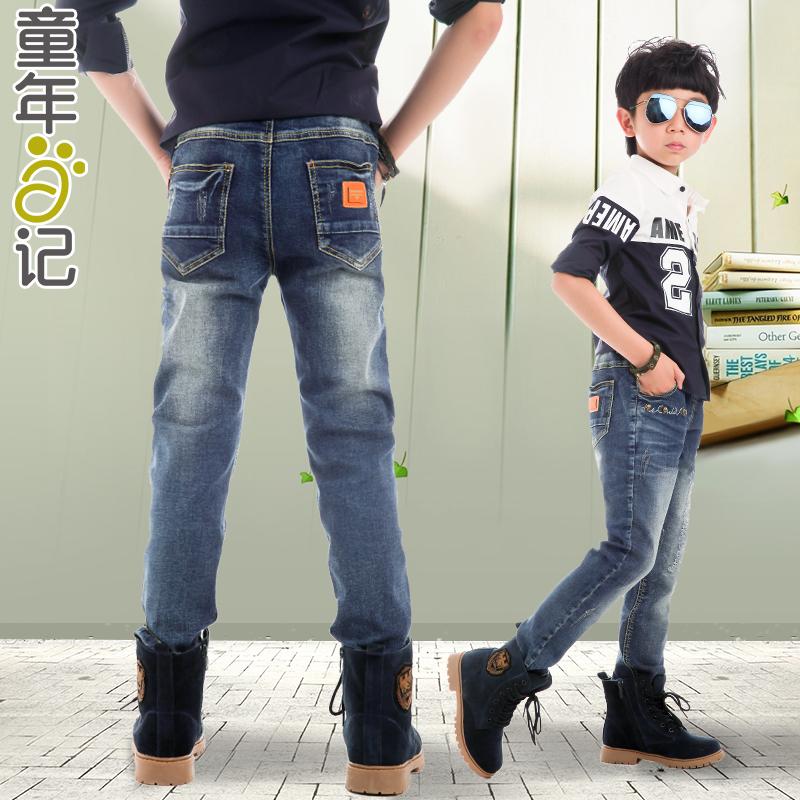 2015男童牛仔裤大童装夏装中童裤子春装儿童韩版长裤薄