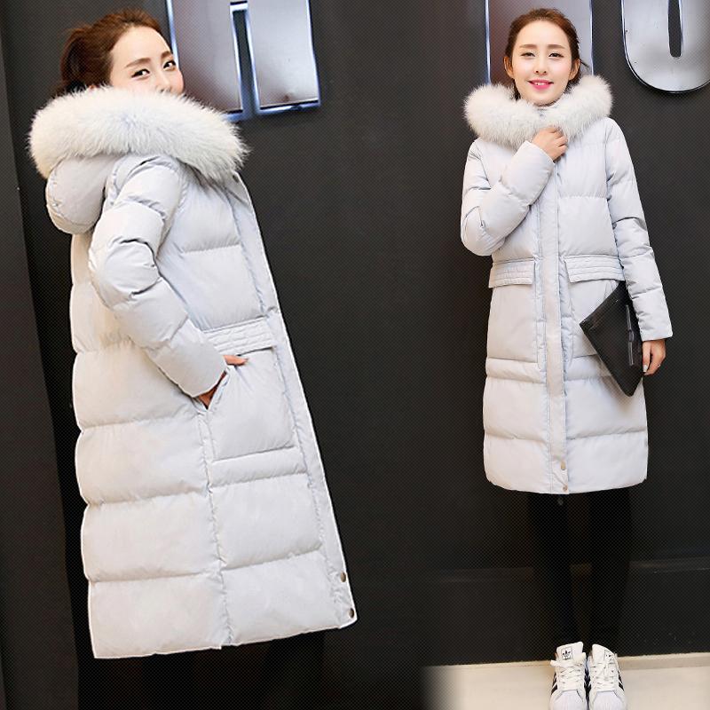欧洲站冬季女装绵服2015新款韩版薄款棉衣女中长款修身棉袄过膝潮