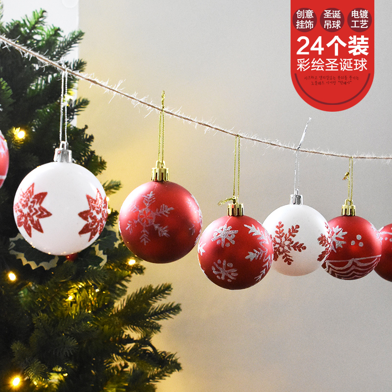 nuoqi painted christmas ball decoration hanging ball christmas decorations mall hotel window roof scene