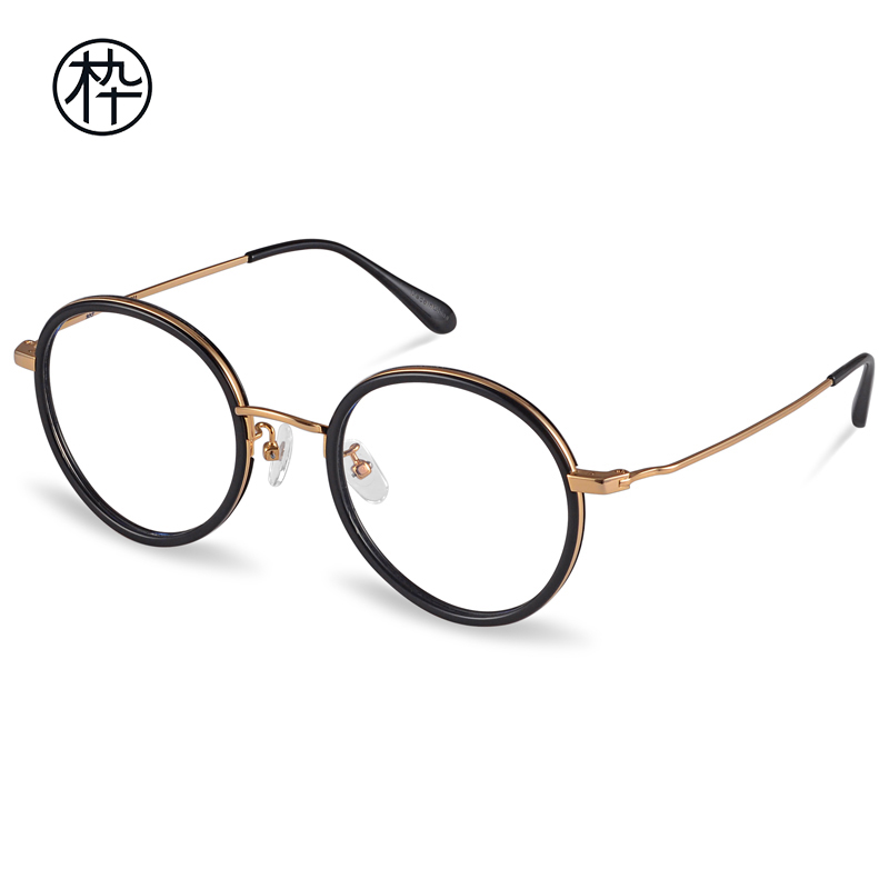 USD 210.81] Metal vintage style women optical glasses frame wood ...