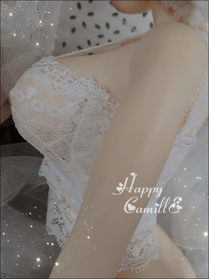 taobao agent BJD SD doll underwear 4 points 3 points big female lace through flower elastic sling tube top(3 colors)
