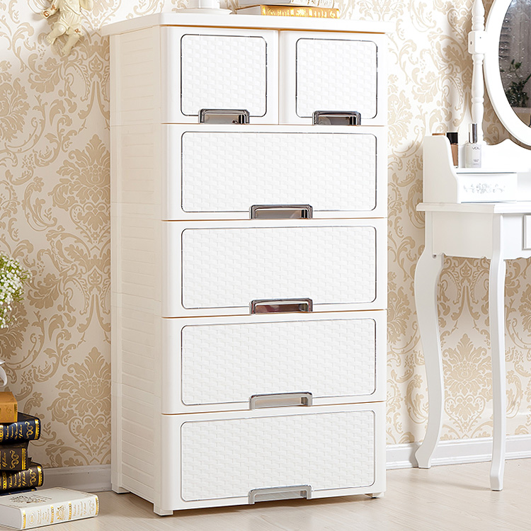 Thickened King Size Drawer Type Storage Cabinet Plastic Storage Cabinet  Chest Of Drawers Baby