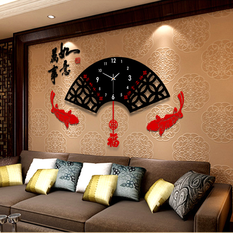 USD 114.49] Modern clock wall clock living room creative minimalist ...