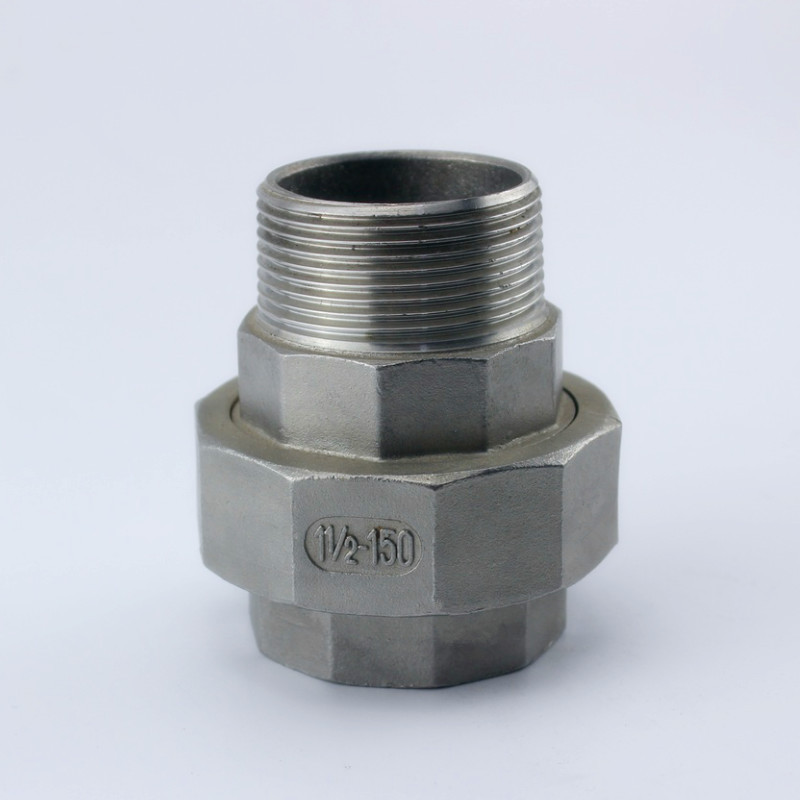 Inside and outside wire unions Stainless steel 304 Internal and external thread oil Spherical hard seal Cone surface Silk joint