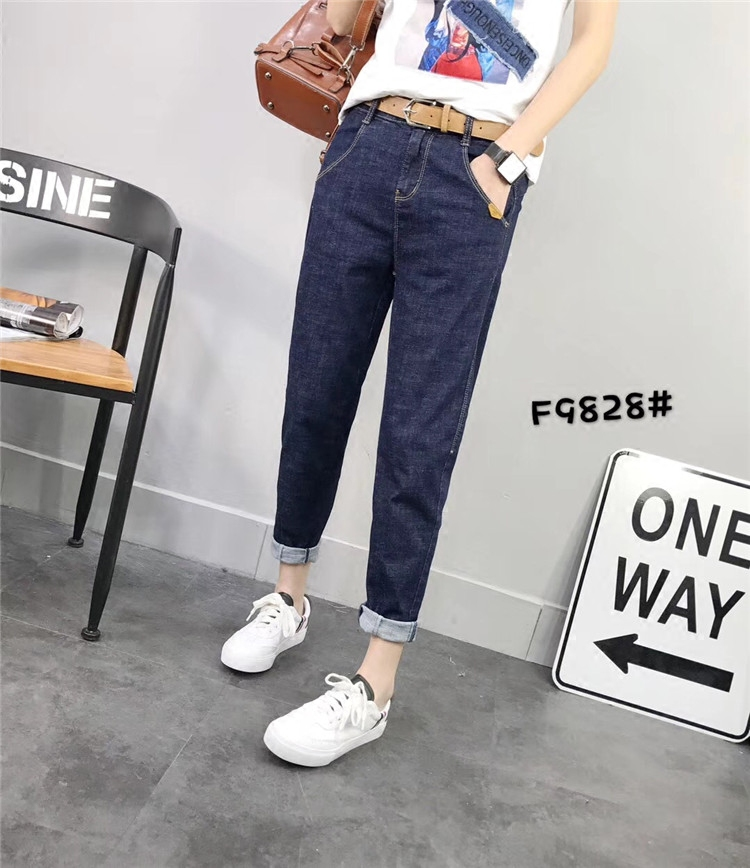 SOOMIL harem pants 2018 spring and autumn loose large size jeans European station feet women casual nine points pants
