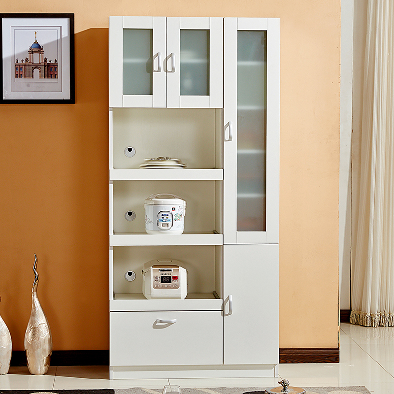 現代簡約餐邊柜大容量微波爐廚房柜子餐柜儲物碗柜茶水柜酒柜C-23