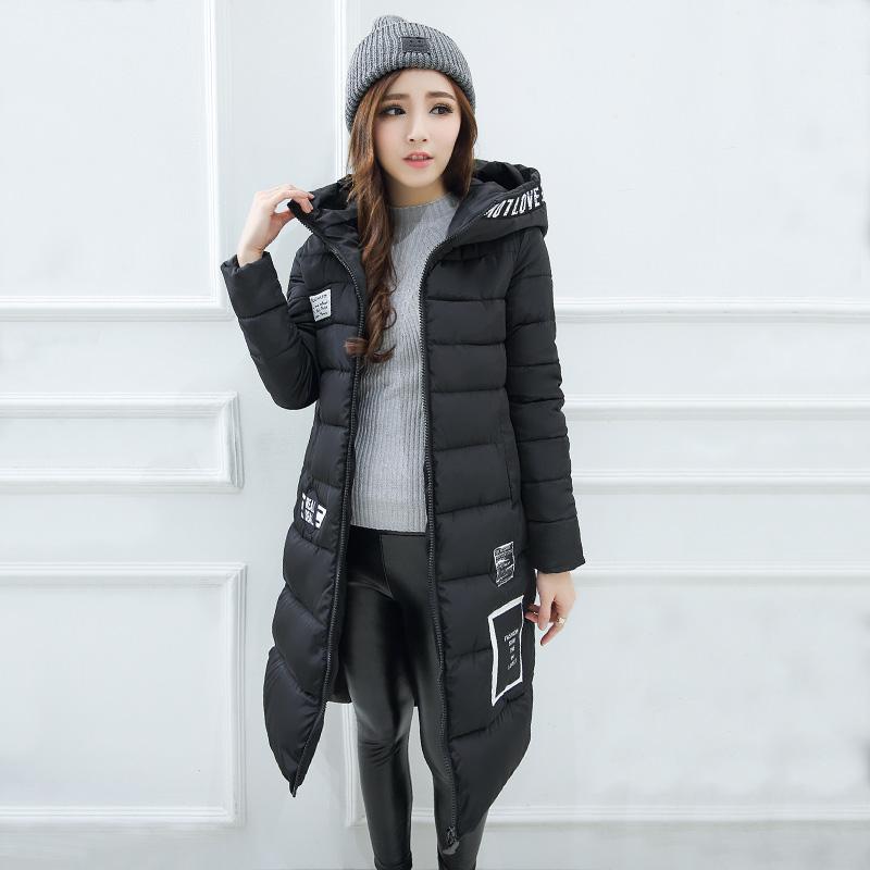 女装大毛领棉衣女士羽绒棉服韩版修身冬装中长款外套宽松大码棉袄