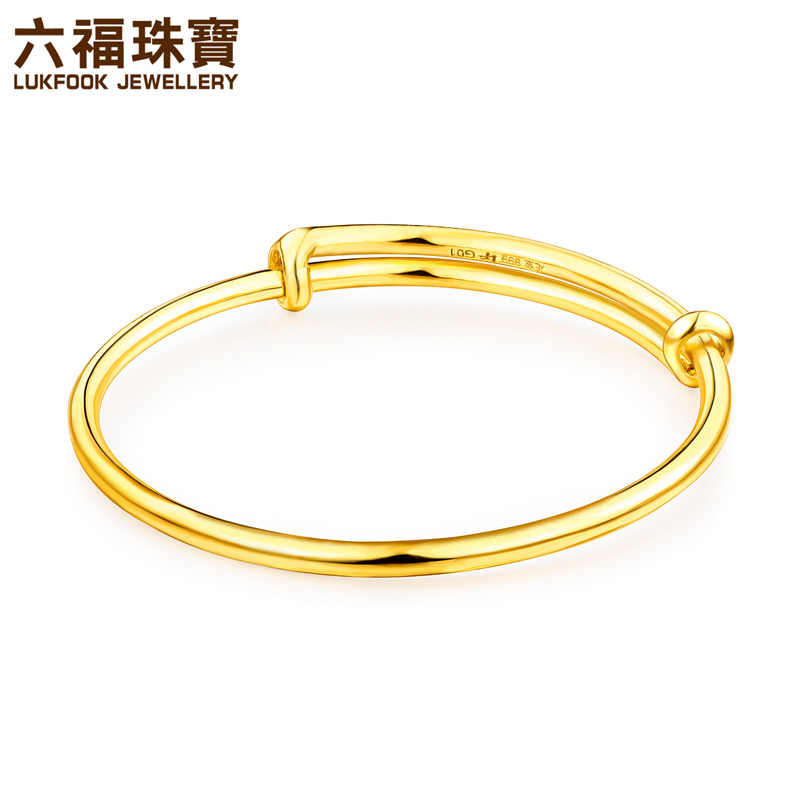 USD 443.85] Luk Fook jewellery gold gold bangles baby gold ...