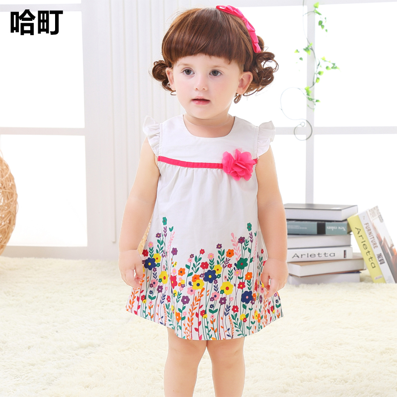 af60b9897 Summer summer 2-3 year old baby girl skirt dress dress Princess two years  old