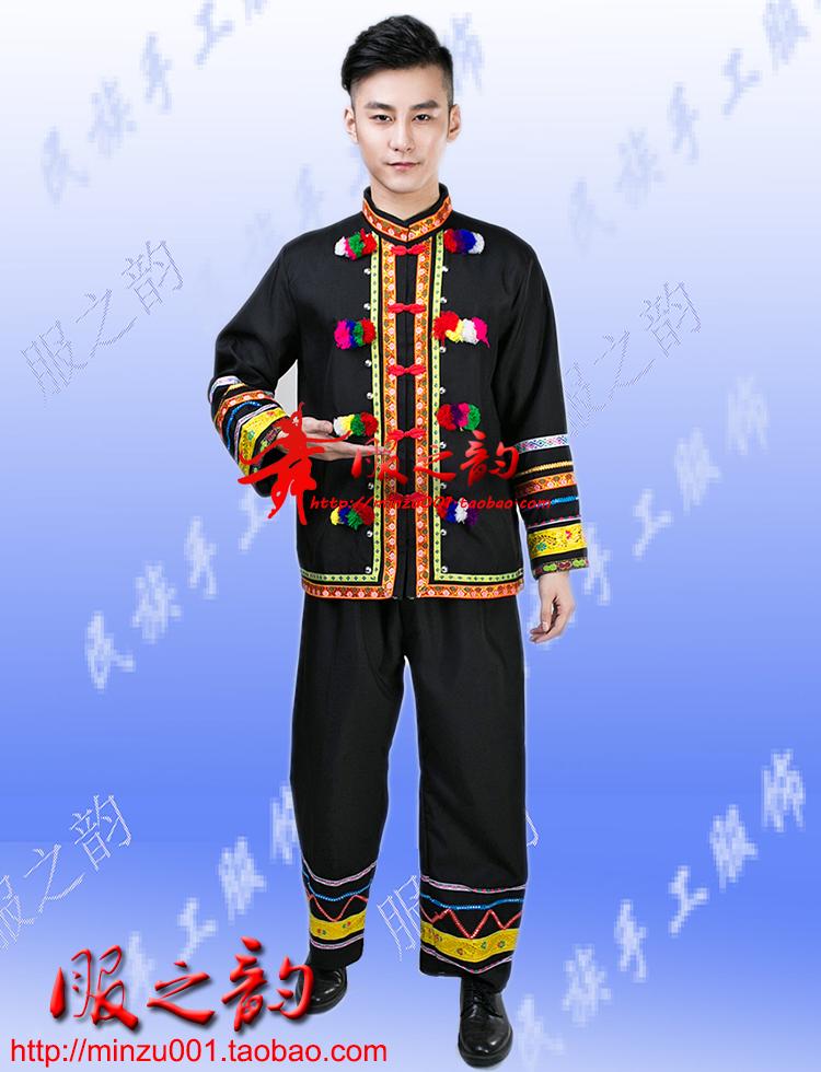 土家族彝族阿诗玛男装彝族服装少数民族服装男歌手演出服舞蹈服装