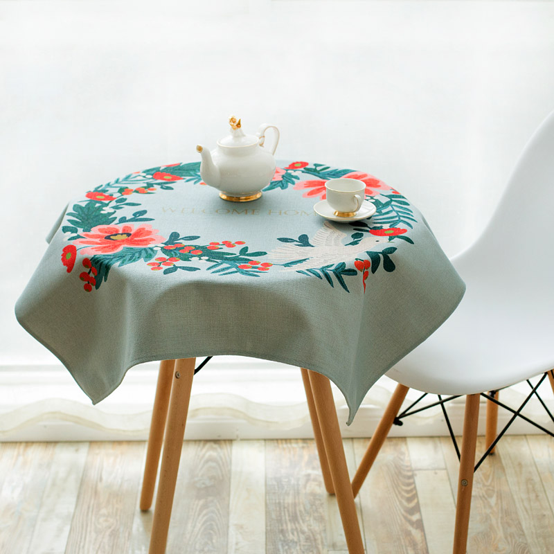 Usd 3339 Literary Cotton And Linen Table Tablecloths Hand Painted