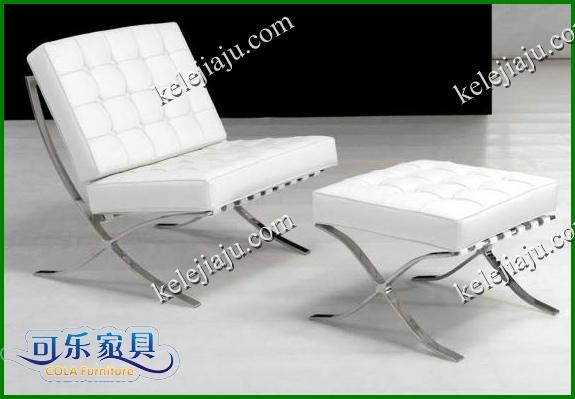 CL3001 блок + скамеечка для ног - натуральная кожа барселона ло что стул одноместный диван + фут