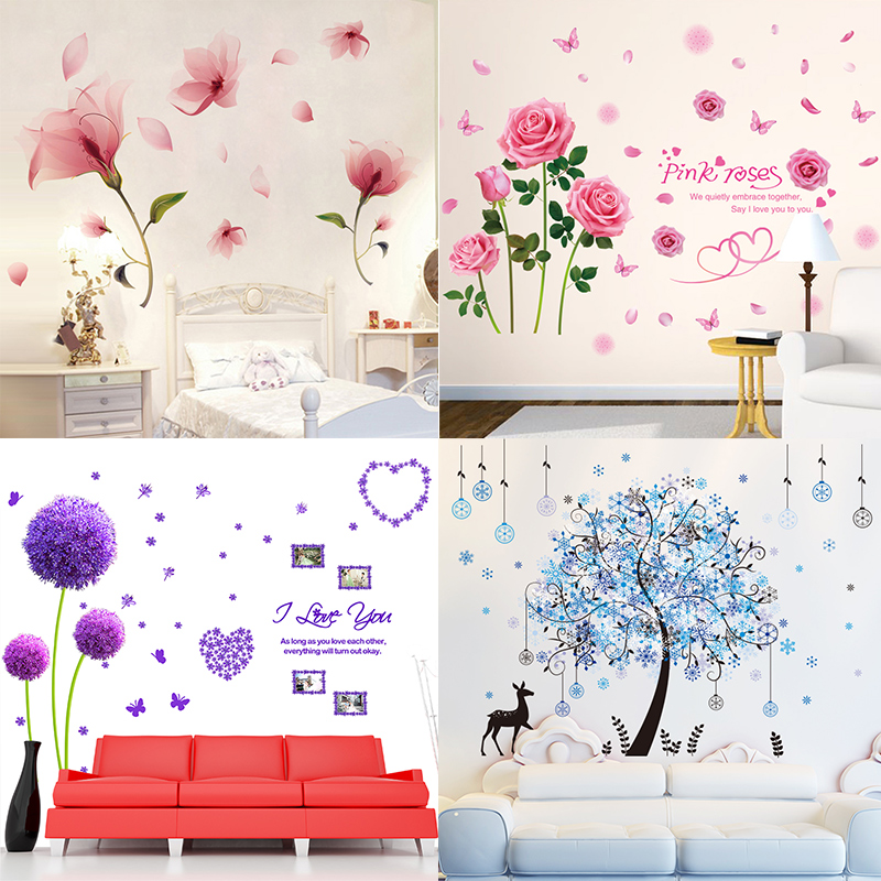 Living room 3d stereo warm bedroom wall flower wall sticker living room 3d stereo warm bedroom wall flower wall sticker wallpaper room wallpaper self adhesive wall decoration stickers mightylinksfo