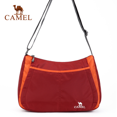 'Break code' camel outdoor men and women oblique shoulder bag thicker webbing 10L capacity men and women bag