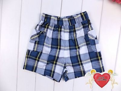 Loss Clearance Baby Square Square summer boys and girls handsome cotton plaid shorts children's wild pants