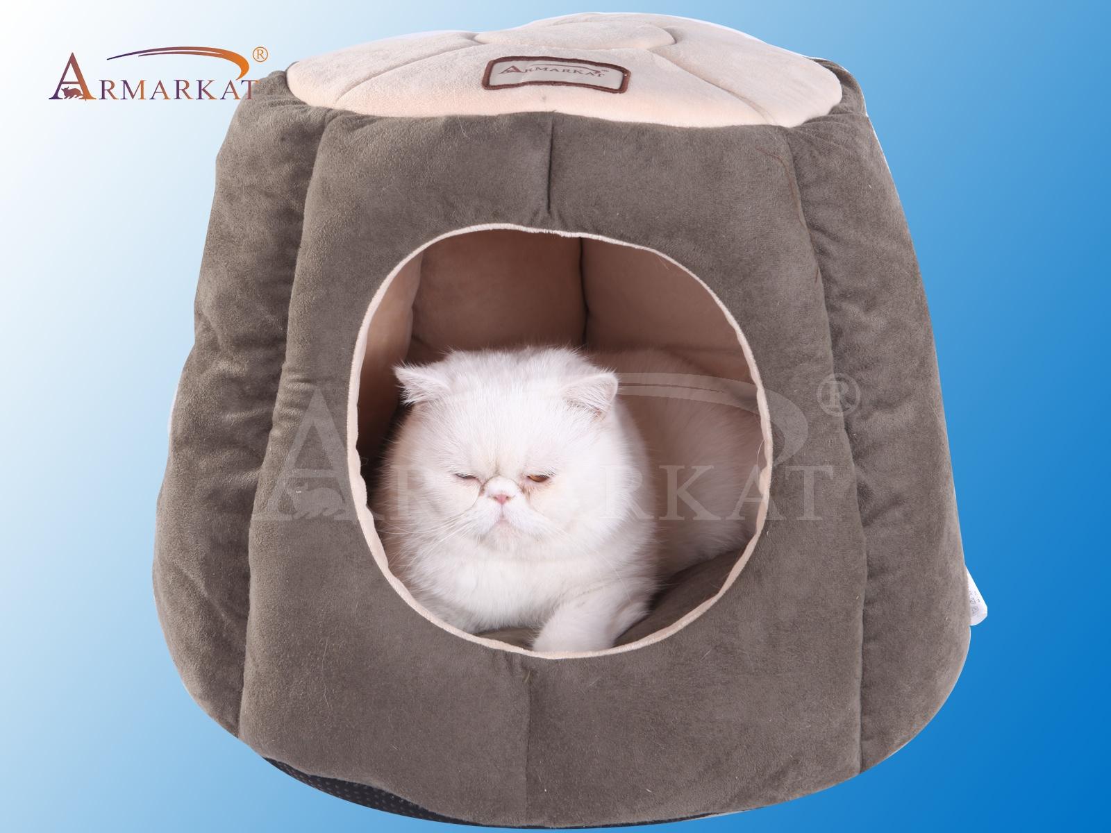 Лежанка для животных Соединенные Штаты armarkat Эмма полузакрытых Кей и кошка кровати толстый теплый Кошкин дом зимний Национальный Бесплатная доставка